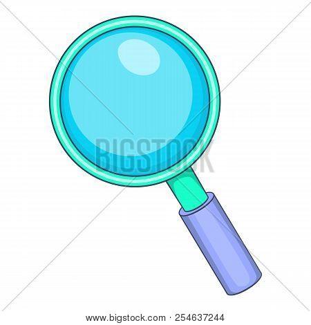 Magnifying Glass Icon. Cartoon Illustration Of Magnifying Glass Icon For Web