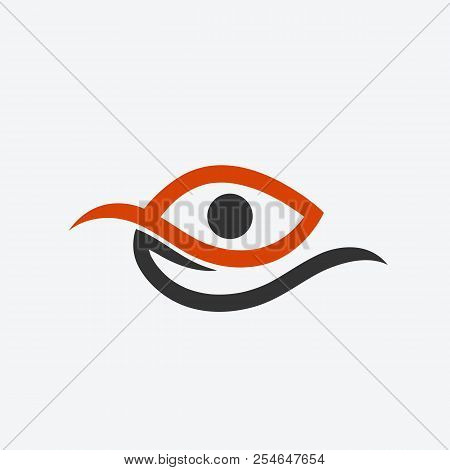 E-shaped Abstract Eye Logo, Modern And Sophisticated Design, Industrial And Business Logo, Network S