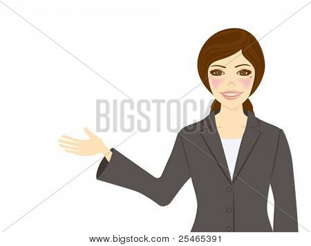 Showing Business Woman