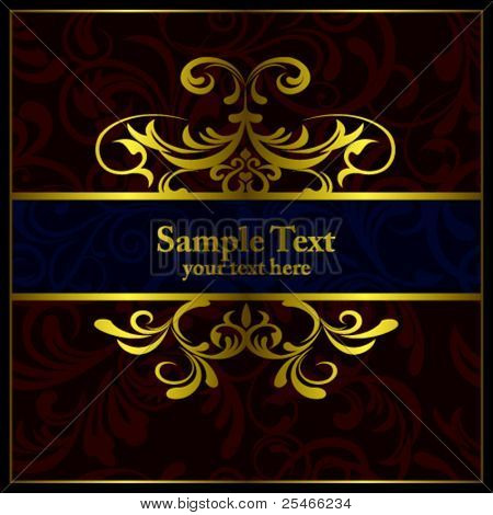 Abstract luxury frame. Illustration vector