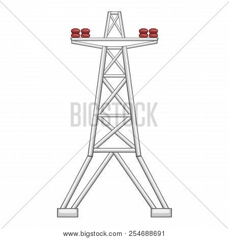 Electric Pole Icon. Flat Illustration Of Electric Pole Icon For Web