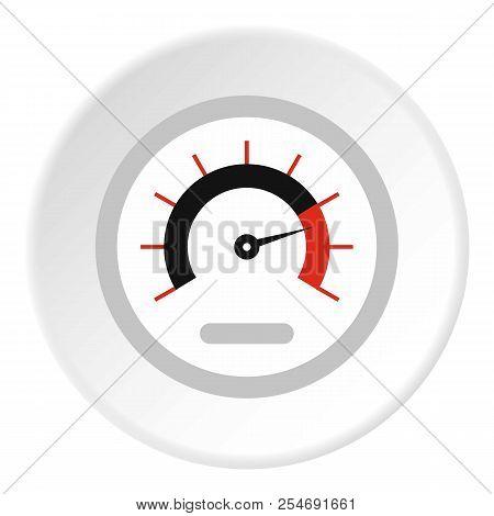 Exclusive Speedometer Icon. Flat Illustration Of Exclusive Speedometer Icon For Web