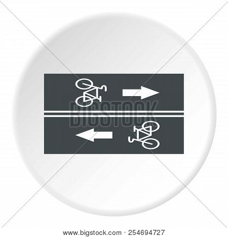 Road For Cyclists Icon. Flat Illustration Of Road For Cyclists Icon For Web