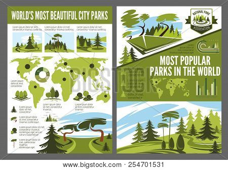 Landscape Design Company And National Park Association Infographic. Vector Statistics For Horticultu