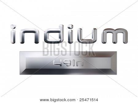 Indium metal, illustration