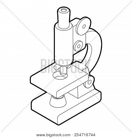 Microscope Icon. Outline Illustration Of Microscope Icon For Web