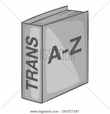 Foreign Language Dictionary Icon. Gray Monochrome Illustration Of Foreign Language Dictionary Icon F