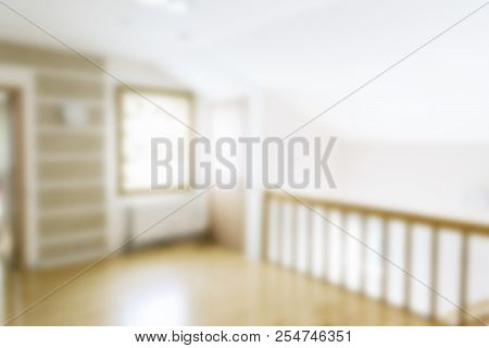 Blurred Luxurious Interior. Abstract Blur Background For Web Design. Bokeh Light Interior. Blur Imag