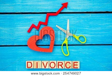 Increased Divorce Rates. Problems Of The Modern Age. The Inscription