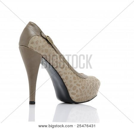 woman grey high heels isolated background,studio shot