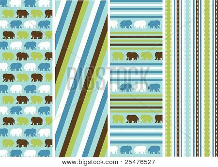 seamless patterns with fabric texture, animal patterns