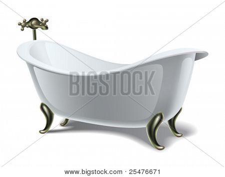 Bath on white (vector)