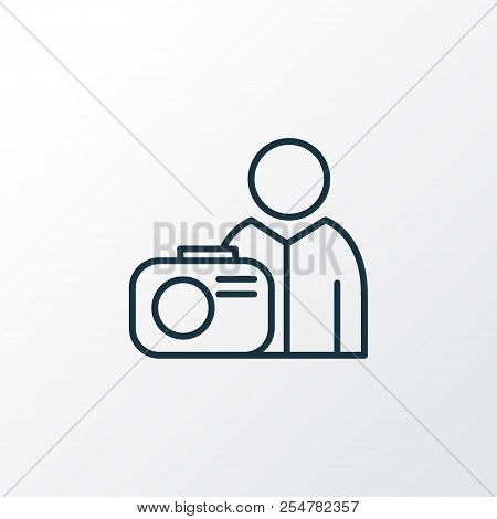 Photograph Icon Line Symbol. Premium Quality Isolated Photographer Element In Trendy Style.