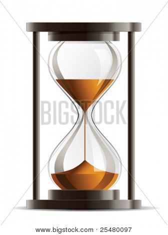 Isolated Hourglass Vector