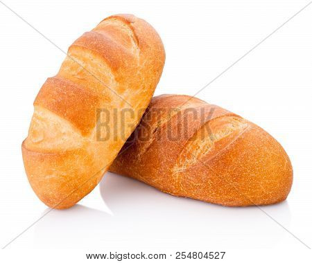 Two Loaf Of Bread Isolated On White Background