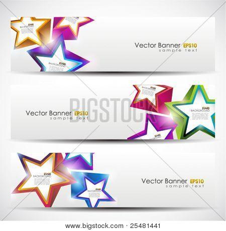 Stars Banner Set. 160x600. Vector Illustration. EPS10