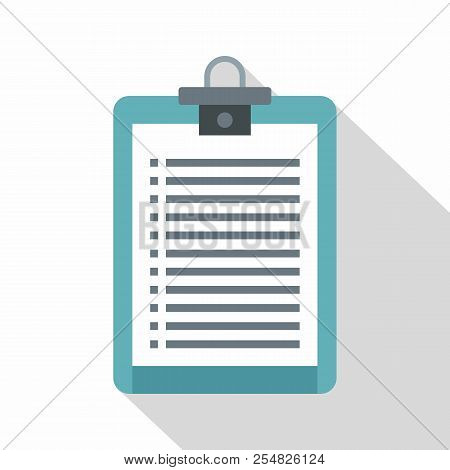 Clipboard With Check List Icon. Flat Illustration Of Clipboard With Check List Icon For Web Isolated