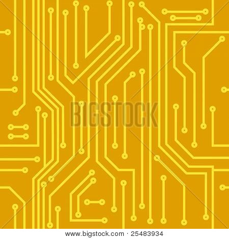 Abstract seamless vector background of computer equipment