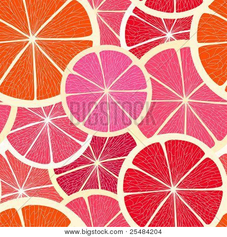 Grapefruit seamless background