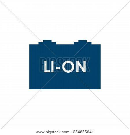 Li-ion Car Battery Icon Illustration Vector Design