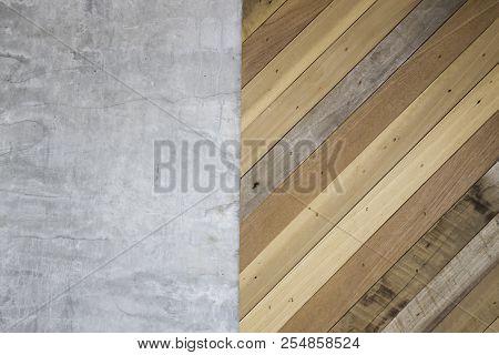 Rustic Wood Diagonal Panel Background, Stock Photo