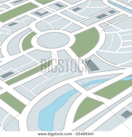 Perspective background of abstract city map