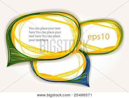 abstrakt handgezeichnete sprechen Blasen Satz