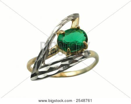 Golden Emerald  Ring