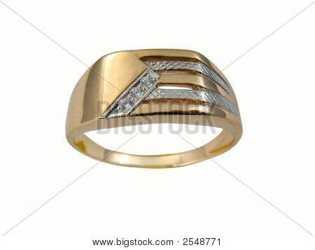 Golden Male Ring