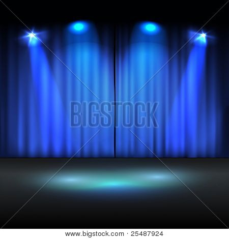 Illuminated stage vector template