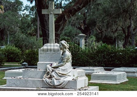 Corinne Elliott Lawton Cemetery Statuary Statue Bonaventure Cemetery Savannah Georgia