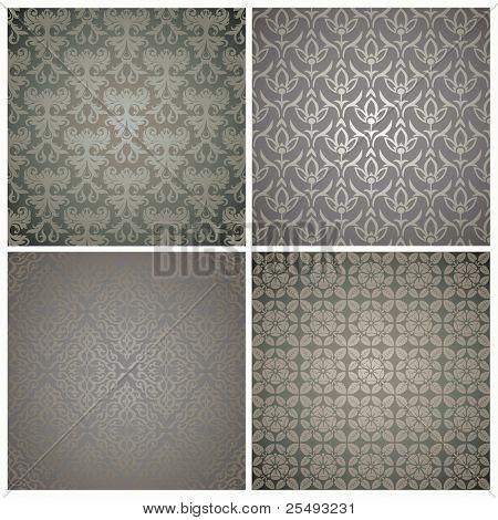 Retro wallpaper set