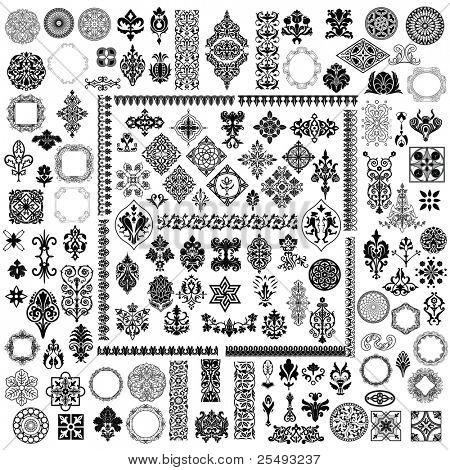 100 different retro elements