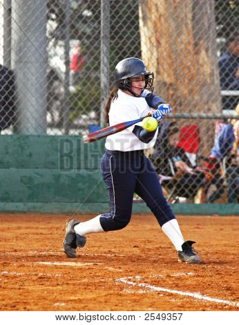 Fastpitch Batter Making Contact