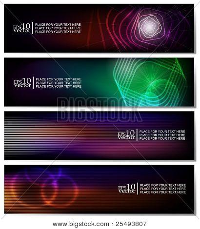 Vector horizontal web banners