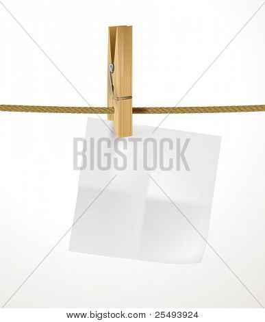 Vector blank sheet with peg