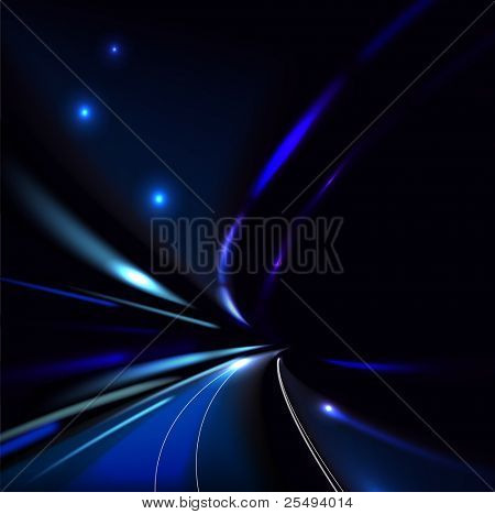 Vector traffic and street lights background