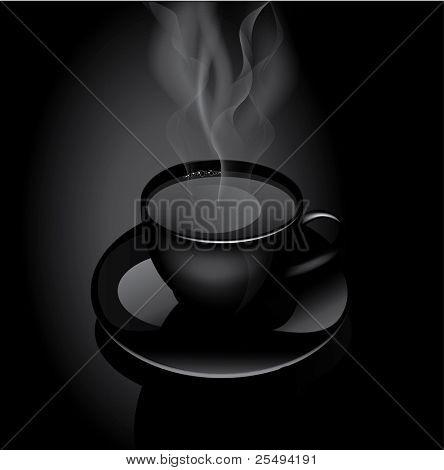 Vector hot drink cup