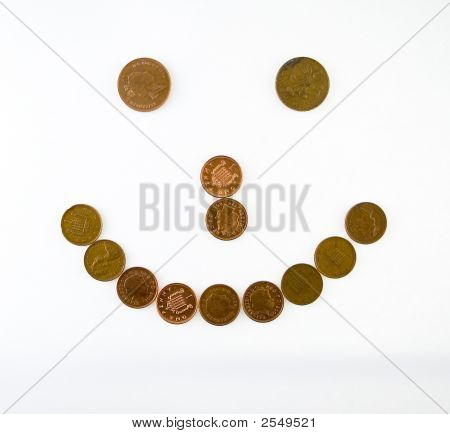 Smile Made Of Coins