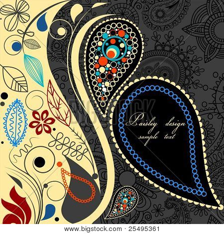 Paisley floral background