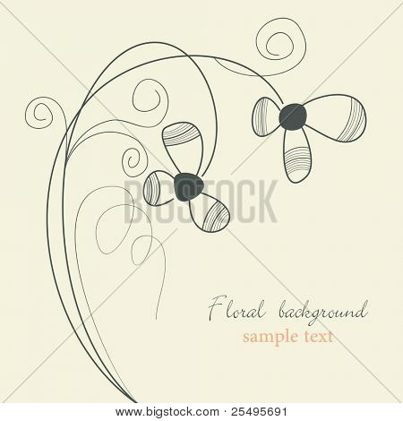 Delicate flowers background