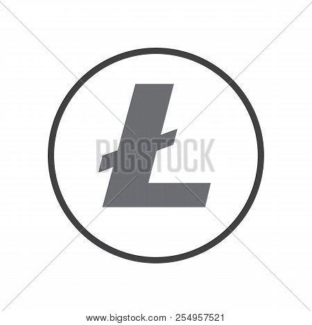 Litecoin Sign Icon. Criptocurrency Symbol Vector Design