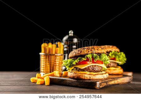 Delicious grilled burgers