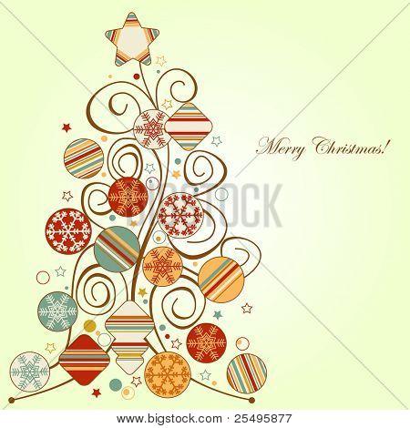 Retro Christmas tree