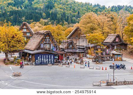 Gifu, Japan - May 9, 2015 :traditional And Historical Japanese Village Shirakawago In Japan, Gokayam