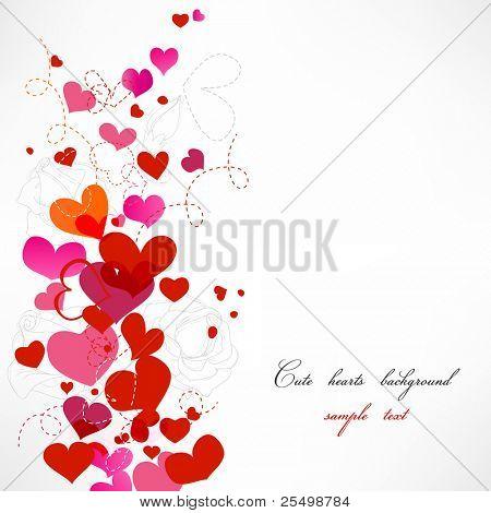 Süße Herzen Hintergrund