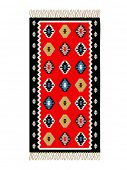 Bosnian traditional carpet, vector illustration poster