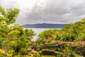 Lake Apoyo, Granada, Nicaragua. February 2018. Al view of lake Apoyo Nicaragua poster
