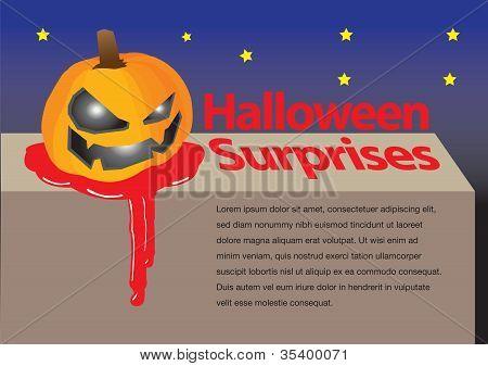 Layout Design Of A Halloween Pumpkin