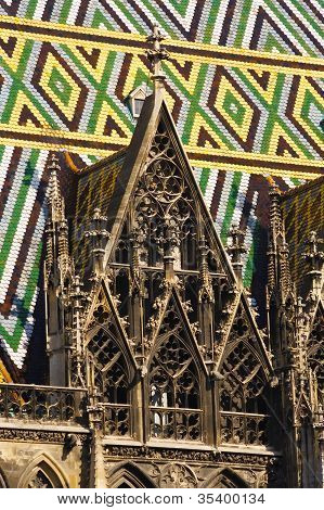 Detail Of Vienna Cathedral